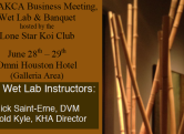 2014 AKCA Business Meeting, Banquet & KHA Wet Lab