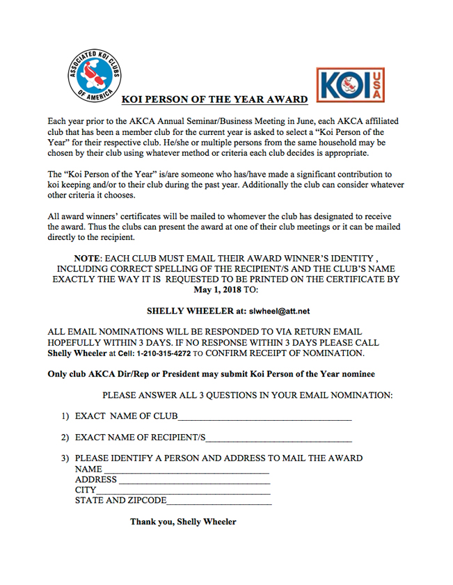 KOI PERSON OF THE YEAR AWARD 2017